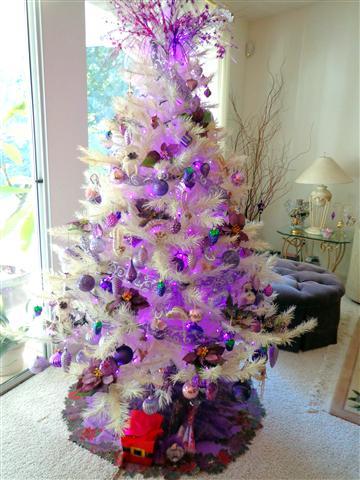 One of Lady J's many festive Christmas trees