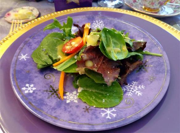 Lady B's mesclun salad with dijon vinaigrette (with a touch of maple syrup)