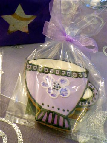 Lady P.'s shortbread cookie tea favors