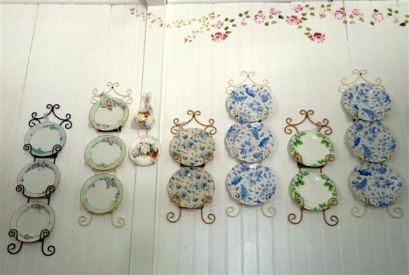 Tea room plates display