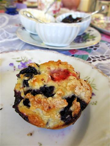 Strawberry blueberry scone