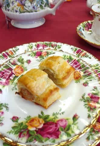Savory course: Pork sausage rolls