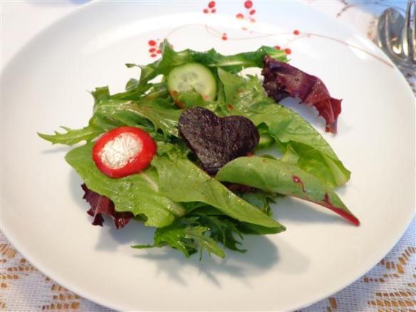 Spring mesclun salad