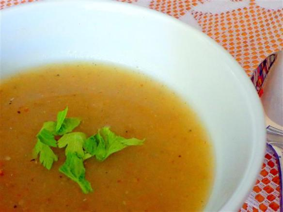 Puree of celery soup with caraway seeds