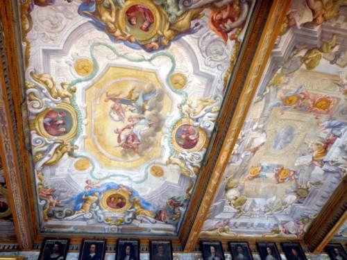 Medici Family ceiling fresco at the Uffizi Gallery